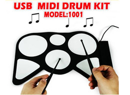 Ensembles de batterie en Ligne-KIT DE MIDI DRUM KIT MD1001 USB de haute qualité Instrument de musique USB Batterie Batterie électronique