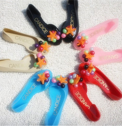 Wholesale Women Clear flat sandal Beach Bohemian flat shoes Lady jelly slippers Gril grape starfish shoes