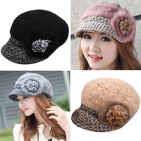 Wholesale Fashion Woman s Wool Cotton Winter Beret has Brim Felt Hats Warm Nifty Hats H78
