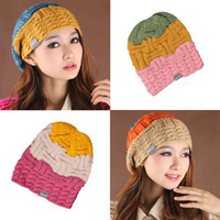 Wholesale New Brand Fashion Girl Wool Cashmere Hat Warm Winter Baggy Cap H80