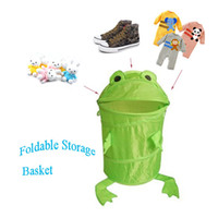 Wholesale 20 Animals Frog Pop Up Laundry Storage Clothes Foldable Bin Basket Hamper Storage