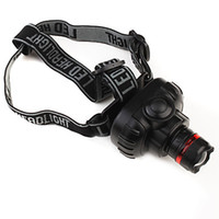 Wholesale High Power Mode LED Headlight Headlamp x AAA Black
