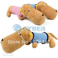 Cotton 6940# Blue/Pink The Colors will be delivered b Holiday Sale Free Shipping Cute Plush Big Head Dog Pillow Cushion Soft Throw Pillow Kid Animal Toys