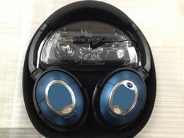 Wholesale BLUE Over Ear Headphone Acoustic Noise Cancelling Headphones Headset with Retail Box
