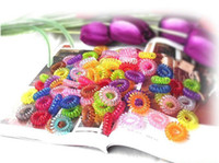 Wholesale EMS Candy color the telephone line circle hair ring hair bands