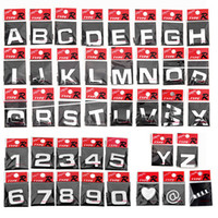 Wholesale 100pcs letter D sticker auto Chrome Badge letter Decal number Emblem DIY decoration alphabet logo