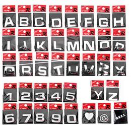 Wholesale 100pcs letter D sticker auto Chrome Badge letter Decal number Emblem DIY decoration alphabet logo