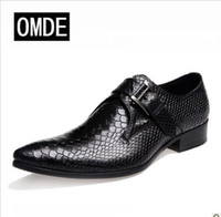 Wholesale The British business dress shoes England pointed hasp snake men s shoes