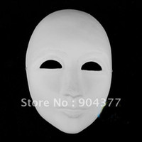 paper face mask - Thick Unpainted Paper Pulp Masks Men Full Face to Decorate DIY Fine Art program