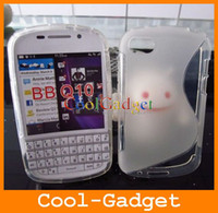 Wholesale Stylish Grip S Line TPU Gel Case Cover Shell for BlackBerry BB Q10 Q10C01