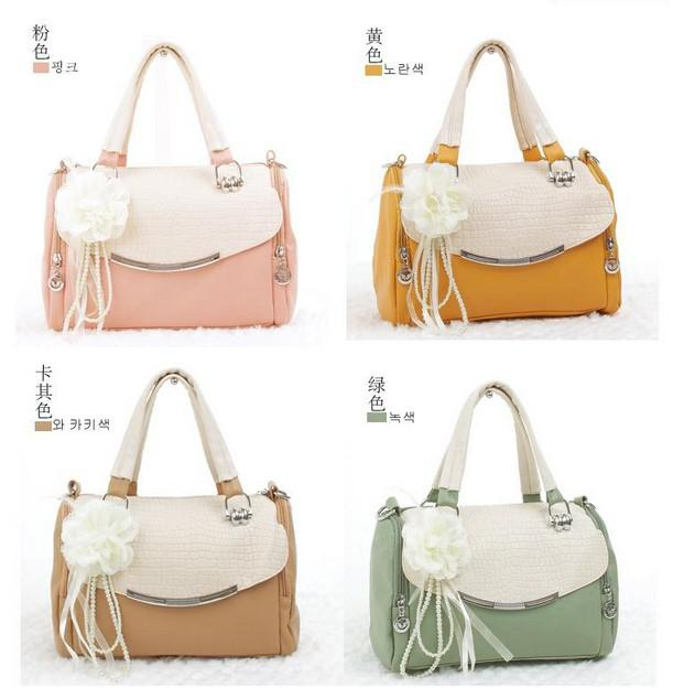 2013 Cute Flower Gril Handbags Tote Bowknot Lady Women Shoulder ...