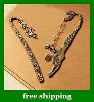 Wholesale Retro Wizard pattern mermaid beaded butterfly knot bookmarks book mark Tibetan Silver