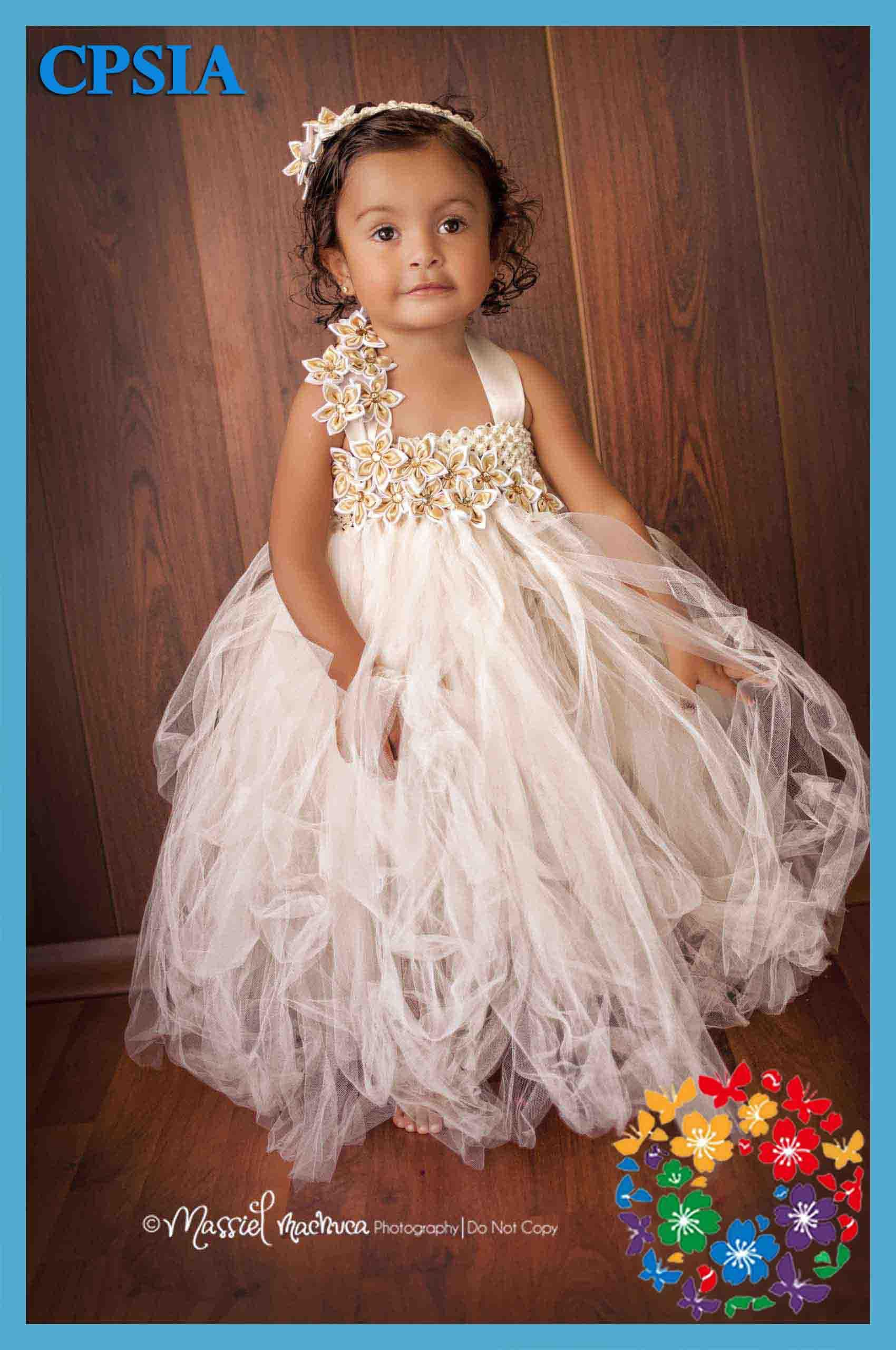 Girl Dresses Cream Baby Cute