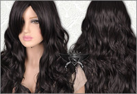 Wholesale Beautiful Black Lolita Long Wavy Animation Full Wig Long black wig black bob wig curly wigs style
