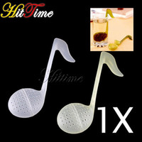 Wholesale 2 X New Note Tea Spoon Strainer Teaspoon Infuser Filter