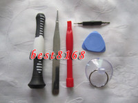 Wholesale 6in1 set DIY repair KIT opening open tools screen LCD disassemble tool for iphone G th S
