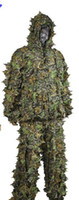 Wholesale Camo D Leaf Yowie Ghillie Sniper Paintball Archery Bowhunting Hunting SUIT