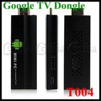 Wholesale T004 tv box Google TV Dongle android A10S GHZ G G Built in Wifi Maximal support Mbps