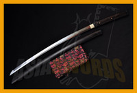 Wholesale ASIASWORDS Hand forged Folded Clay Tempered Ebony Shirasaya Japan Japanese Samurai Katana Sword