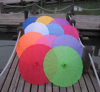 Wholesale Handmade Soild Color Chinese Bamboo Parasol Wedding Umbrellas Party Favors Souvenior Inches Dia