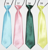 Wholesale solid baby ties Boys cravat neck tie polyester CHILDREN S NECKTIES kids ascot neckwear