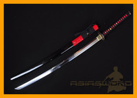 Wholesale ASIASWORDS TOP Hand Forged Folded Clay Tempered Steel Japan Japanese Samurai Sword Katana