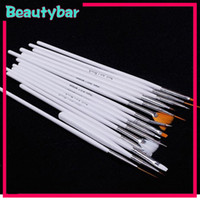 Nail Art Brushes 15 Pcs Plastic Hot sale Acrylic Nail Art Design Painting Pen Tool Polish DIY Brush Set Kit
