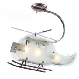 New Modern Kid's Bedroom Helicopter Ceiling Lamp Glass Plane Study Room Ceiling Fixture Cartoon baby room Pendant Lamp Light