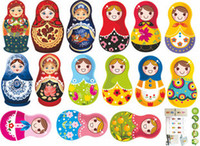 Wholesale High Quality Matryoshka Wall Sticker Russian Dolls PVC Fridge PC Phone Decor th Generation Wall art