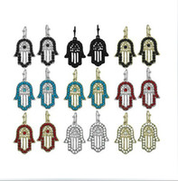 South American Women's Party Hot sale candy color hamsa hand fatima earring faith punk hoop earrings jewelry wholesale