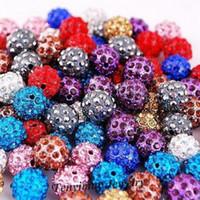 Rhinestones crystal ball wholesale - Crystal Beads Colors mm Spacer Disco Ball Beads Shamballa Beads
