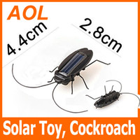 5-7 Years solar powered toys - Funny Solar Cockroach Solar Toy Solar Power Robot Insect Bug Educational kid retail package