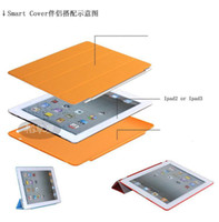 Wholesale 2 in Smart Cover Magnetic Case for Ipad New ipad ipad3 Tablet PC Stand Sleep Wake UP
