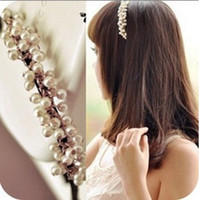Wholesale 1135 accessories hair accessory headband sweet handmade small pearl hair bands Minimum order