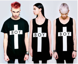 Wholesale New BOY LONDON cross Tide brand bigbang pure cotton short sleeves T shirt