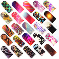 Wholesale 16pcs set Styles Nail Patch Nails Sticker Nail Foil Wraps Stickers Nail Art Decoration Foils