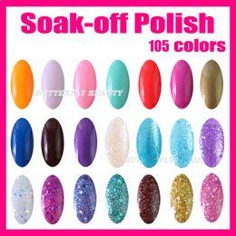 Wholesale 5 Fashion Color ml Nail Art Soak off UV Gel Polish With Glitter LW002 Mixed Batch