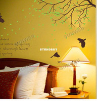 Wholesale Black Green Sticking Paper Go Home Lamp Wall Stickers For Rooms TV Sofa Background Decoration