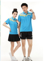 Wholesale 2013 couple models for male and female badminton Suit