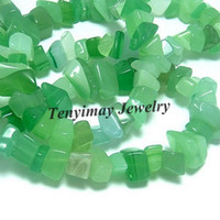 Wholesale Green Agate Loose Beads Irregular Gravel Shape Natural Semi finished Agate Beads
