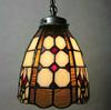 2pcs lot Chocolate Tiffany Artistic Color Glass Chandelier Corridor Hallway Balcony Pendant Lamp