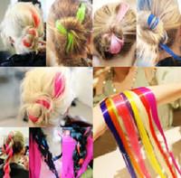Wholesale Fashion Colorful hair piece color gradient wig piece