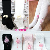 Wholesale 2013 Girls Lace Bow Cotton Pantyhose Hot Sale Years Kids Spring Fashion lace Socks