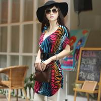 V_Neck korean - 2015 new sexy Korean dress shoulder fold two Wear modes Stretch low V fonts Zebra printing dress