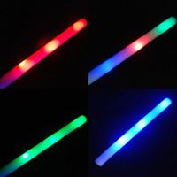 Barras coloridas LED llevaron palillo de la espuma que destella palillo de la espuma, vítores ligera espuma palillo de la espuma resplandor llevó