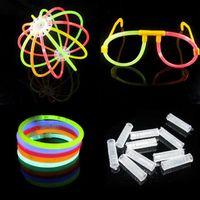 Wholesale 7 Multi Color Hot Glow Stick Bracelet Necklaces Neon Party set Bright Colorful Fun