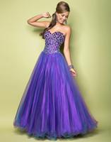 blue corset - Blush Prom Dresses Corset Purple Blue Sweetheart Full Length A Line Crystal Ruffle Organza