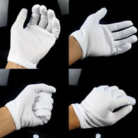 White cotton gloves white - Hip hop Cotton Dance Glove halloween white gloves Work White Glove party prors