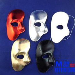party mask,mask face half face, many colors,for Masquerade party.10pcs lot.gold,silver,red,white an