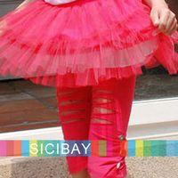 Girl 2T-3T Summer Free Shipping Hot Summer New Fashion Girls Slim Shorts Spandex Hole & Button Design K0129